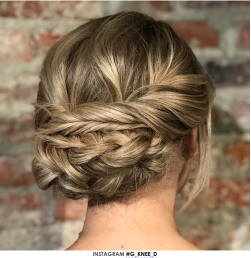 Jeanne's Beautifully Braided Prom Hairstyle