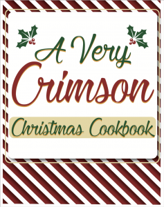 A Very Crimson Christmas Cookbook client gift 2019